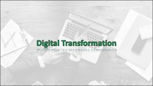 Digital Transforamtion